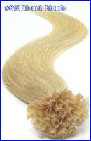 "18"" 20"" 22"" Keratin Virgin Remy Hair U Stick U Tip Human Hair Extensions Straight 100s/set Color #613 Bleach Blonde 2set/lot"