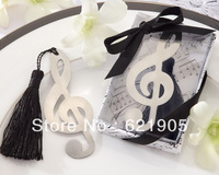 Free shipping (20pcs)  Stainless Steel Musical Notation Bookmark  for Wedding Gifts and Wedding Favors Wholesale and retail