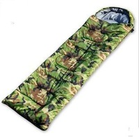 Free shipping Camouflage envelope cotton sleeping bag outdoor camping sleeping bag