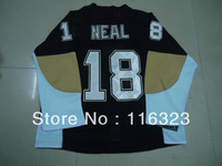 Wholesale- 2013 New James Neal  #18  Black Hockey Jersey Size:48~56+Mix Order,Free Shipping