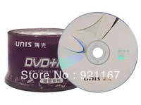 Free shipping,high quality Blank disc  UNIS  DVD+R Recordable  DVD-16X ,1case of 50CDs ,high quality record disk 4.7G