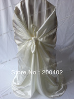 hot sale free shipping ivory self tie chair cover/pillowcase chair cover/wrap chair cover