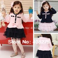 2015 Newest Sale Spring Autumn elegant princess Korean Baby girl clothing fashion dress baby long-sleeve dress children's wear