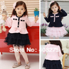 2013 Spring Autumn elegant princess Korean Baby girl clothing fashion dress baby long-sleeve dress children's wear free shipping