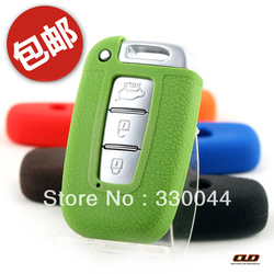Free Shipping Silicone Remote Key Fob Cover Case Protective for smart key Hyundai IX35 sonata KIA k5 key protective case(China (Mainland))
