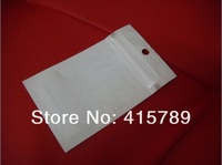 10*6cm Clear+white zipper lock beat light retail plastic package bag poly bag packing bag pack bag,100pcs/lot free shipping