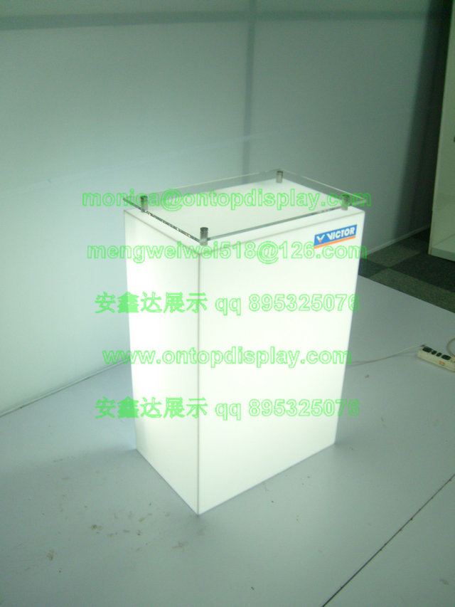 exhibition acrylic display box / acrylic counter display / acrylic display cabinet / lighting PMMA VHB dislay supplier(China (Mainland))
