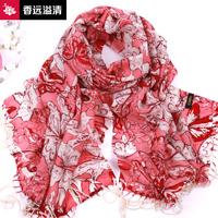 2013 print pattern ultra long wool scarf cape butterfly