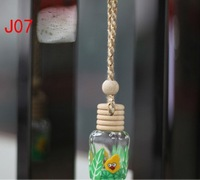 30Pcs/Pack Fashion Decorative Perfume Pendant Bottle With Mixed Color In Empty By Free Shipping