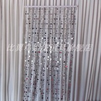 Paillette bead background shaman decoration wedding props supplies silver background curtain