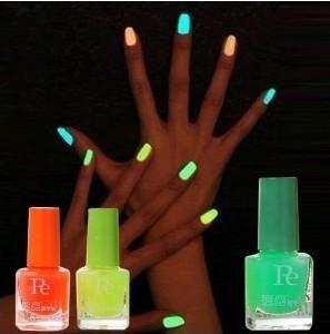 Popular Glow In the dark Luminous Candy Color 20colors  Nail Polish Set Nail Art Fluorescent nail Enamel 10Pcs/Lot FreeShipping