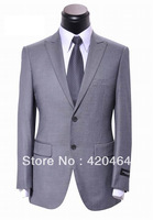 2013 Top Brand 100% Wool Business Suit Men Free Shipping