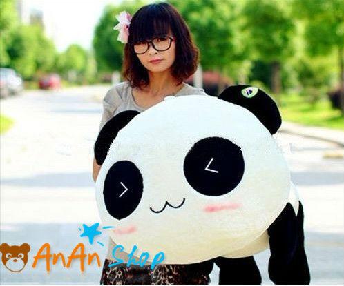 FREE SHIPPING NEW CUTE STUFFED ANIMAL DOLL 27'' BIG PLUSH PANDA TEDDY BEAR SOFT TOY BIRTHDAY CHRISTMAS GIFT FOR KIDS GIRLFRIEND(China (Mainland))