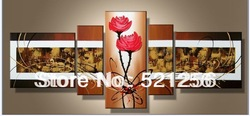 Free Shipping Handpainted Group Triptych Abstract Contemporary Acrylic Paintings BLA139(China (Mainland))