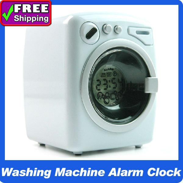 Chegada de novo! Novel Mini Máquina de Lavar Roupa LED Alarm Clock Screen com horárias Função Chime Relógios digitais(China (Mainland))