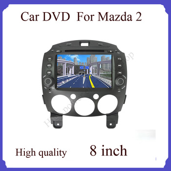 high quality car radio for 8'' Mazda 2 Car DVD Player with GPS,TV,IPOD,Bluetooth,Radio,USB,SD