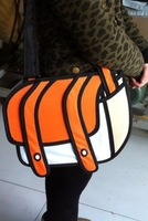 Top cartoons bag 3d three-dimensional bags camera bag messenger bag general bags Free shipping