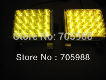 2*20  LED Amber Emergency light Vehicle Boat Car Truck led Warning light Strobe Lights AMBER COLOR