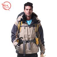 Men outdoor waterproof windproof fleece clothing liner outdoor jacket twinset professional outdoor jacket