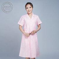 Free Shipping  Hot Sale Summer short-sleeve white nurse clothing white coat beauty work wear uniform nurse pants Lab coat DC024