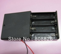 20pcs/lot / Can install 4 battery 5 # / battery box / covered with switch / laser mould / DIY electronic accessories