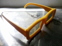 3D Glasses Grey Polarized Yellow Plastic Movie Glasses 3D TV Set Fashion Glasses
