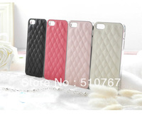Free shipping 4 Colors Luxury Bling With Leather Case Cover , cell phone case for iPhone 5/5s