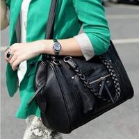 Bags women's handbag 2013 fashion vintage one shoulder big bag hand knitted motorcycle bag