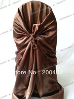 hot sale free shipping  chocolate brown self tie chair cover/pillowcase chair cover/wrap chair cover
