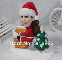 Human soft clay pottery figurines like cartoon dolls reality for Chrismas' gifts C01