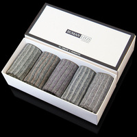 2013 fashion men`s stripe socks in box 100% cotton socks knee-high 100% cotton socks boxed socks 5pcs/set