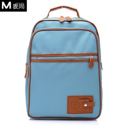 Canvas Material Korean bags Daily backpack school bag 14 women&#39;s handbag laptop bag plane bag(China (Mainland))