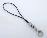 100pcs  Black Cell Phone Straps Lobster Clasp Lanyards Findings