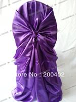 hot sale free shipping  purple self tie chair cover/pillowcase chair cover/wrap chair cover