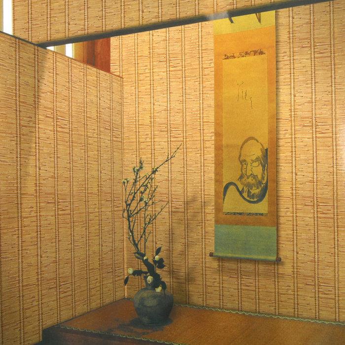 Papier peint textur bambou promotion achetez des papier - Simulation papier peint salon ...