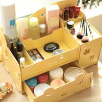 Home desktop baby wool cosmetics storage drawer box dressing box Large