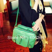 free shiping 2013 retro style pu leather  ladies' messenger bag  shoulder bag sling bag