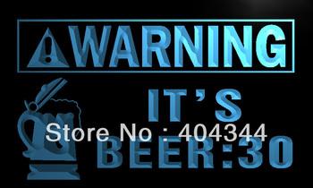 LZ026- Warning It's Beer  30 Bar Neon Light Sign   hang sign home decor shop crafts led sign