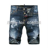 NEW fashion men high quality leisure summer jeans short modern dsq brand designer jeans shorts for men D2 Free SHIPPING 807