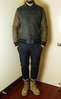 2013 spring turn-down collar woolen fashion slim leather baseball jacket all-match