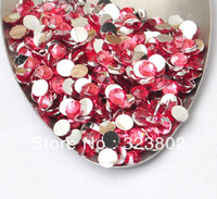 3MM Hot Pink Acrylic Rhinestones Silver Plated Flatback Glitters DIY Supply for Nail Art Garments Decoration-10,000PCS