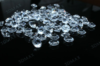 6.5mm 1CT Clear Diamond Confetti Wedding Decoration Free shipping