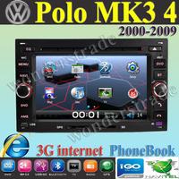 "6.5"" Car DVD player  GPS navigation  stereo for volkswagen Transporter Polo Mk3 MK4  CITI GOLF CHICO 3G internet / Free Shipping"
