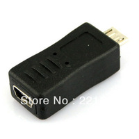 Micro USB Male to Mini USB Female Adapter Converter