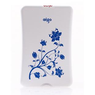 Aigo mobile hard drive blue and white porcelain high speed usb3.0 hd802-500g