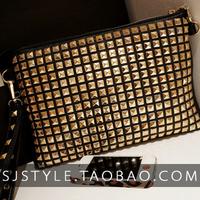 Bag 2013 spring fashion normic quartet rivet popular shoulder bag female bags day clutch