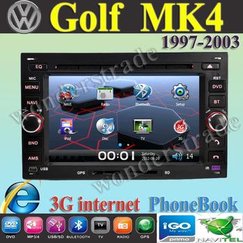"6.5"" Car DVD player  GPS navigation  Autoradio stereo volkswagen Golf Mk4 Jetta  Octavia Superb + 3G internet / Free Shipping"