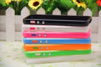 free shipping 10pcs/lot case for iPhone4  4s solf Silicone Bumper Frame Case for iphone 4G Cover