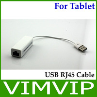 USB Male to RJ45 Female Cable Adapter for Tablets PC - White Free Shipping