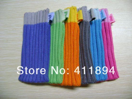 6 pcs Colorful Sock Case Cover Carry Protect Guard Bag for Apple Ipod 2G /Nano 4 Generation /Nano 4th 5G 5Gen MP4 Nano 2nd(China (Mainland))